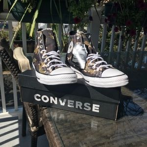 Converse Shoes - New Hi Top Converse Camouflage Chuck T NEW